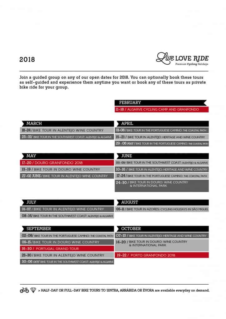 Llr A4 Calendario Tours 2018 Geral En 2