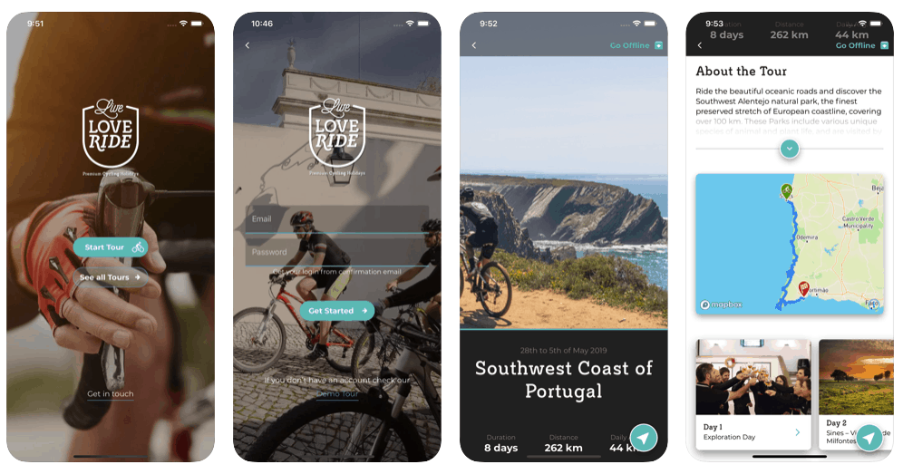 Live Love Ride Portugal Bike Tours app