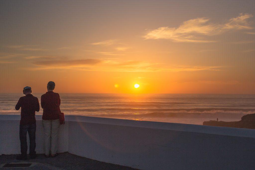 bike tour southwest coast of Portugal - sunset Zambujeira do mar