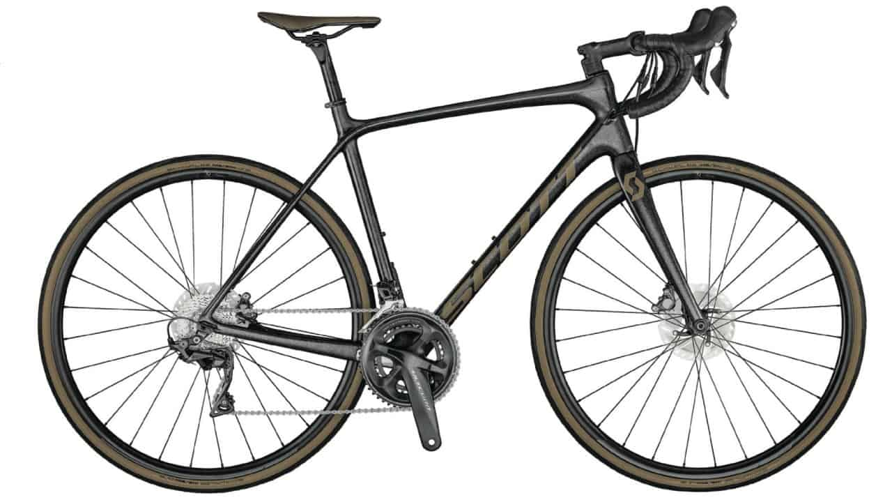 Carbon Road Bike Scott Addict 10 Disc