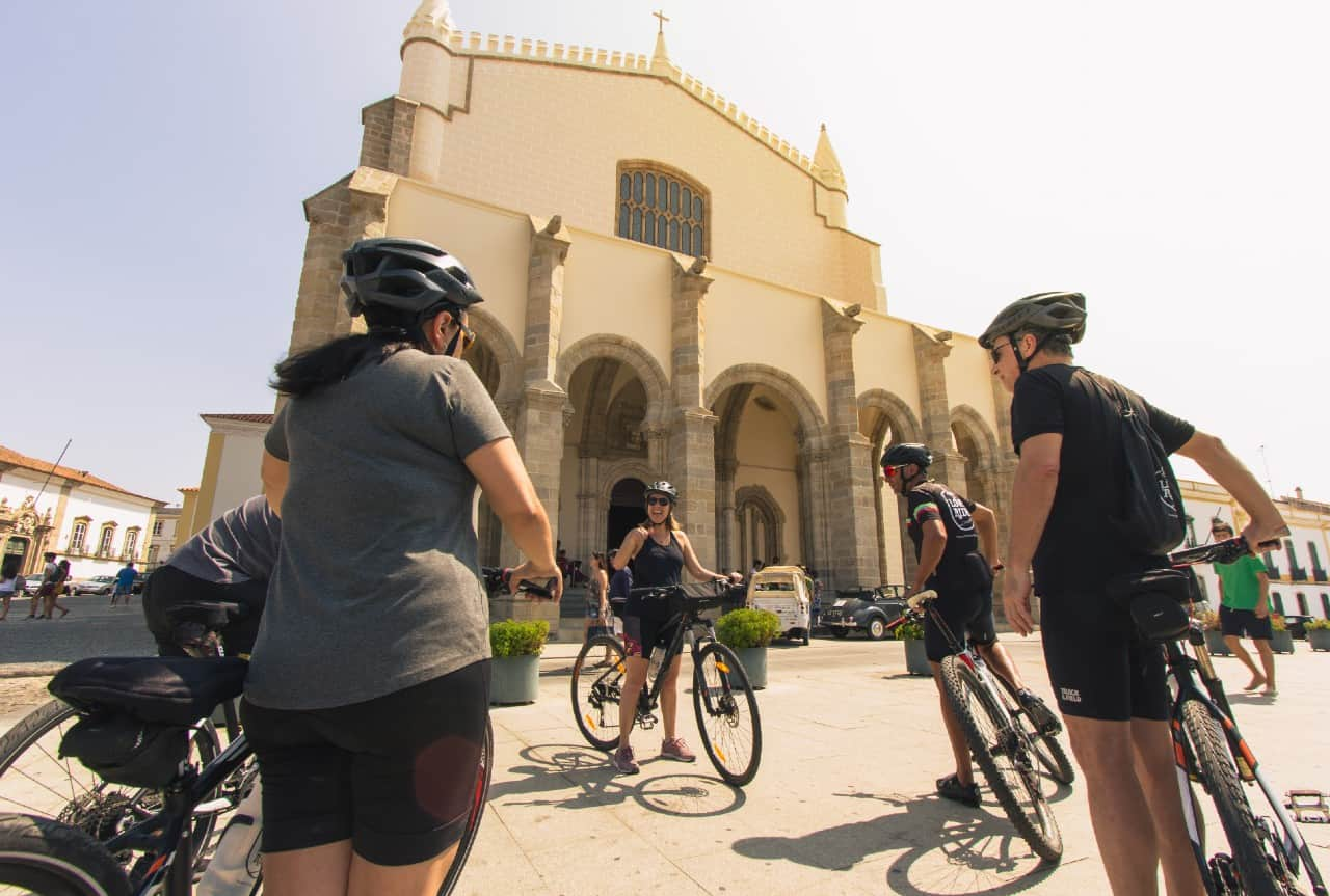 portugal bike tours guided evora group monuments visit