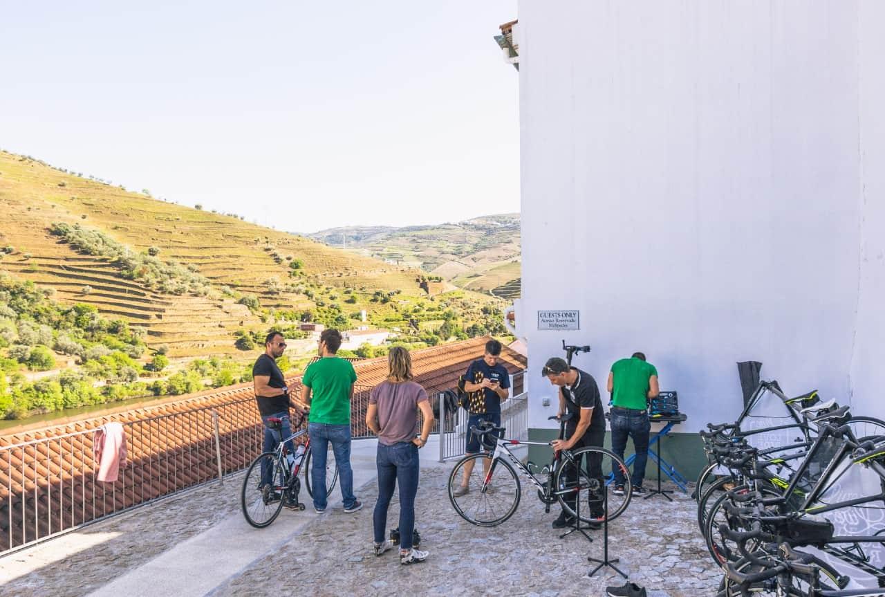 portugal bike tours guided support bike setup